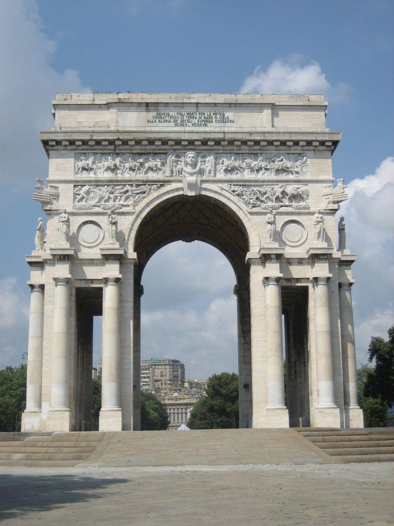 Monument commemorating World War I in Genova, Itay