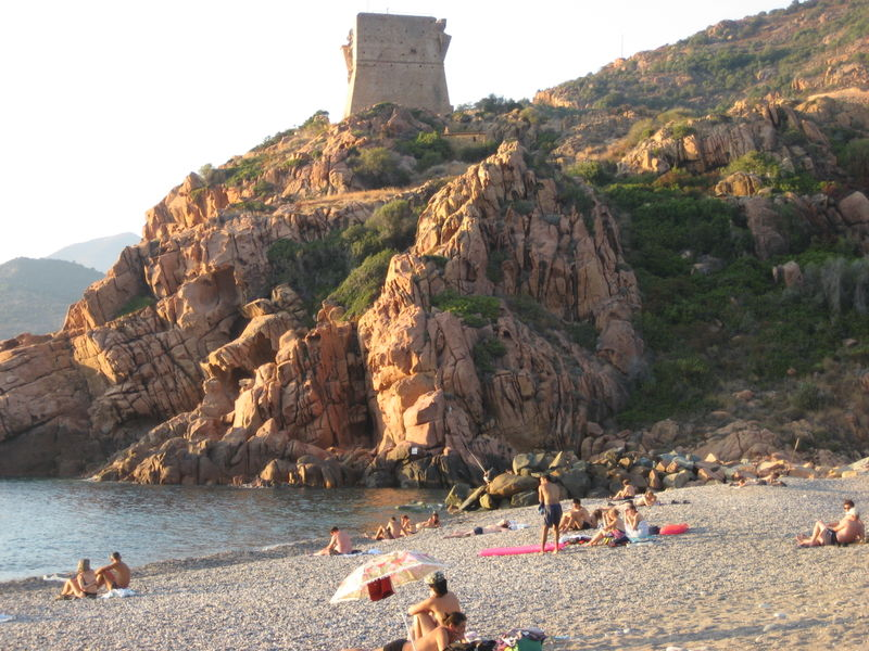 The Quadrangular Genovese Watchtower overlooking the protected Golfe de Porto was constructed in 1549