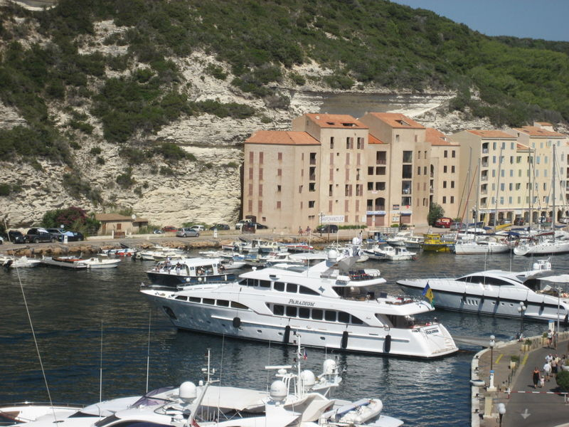 <em>Paradigm</em> in the Harbor of Bonifacio, Corsica