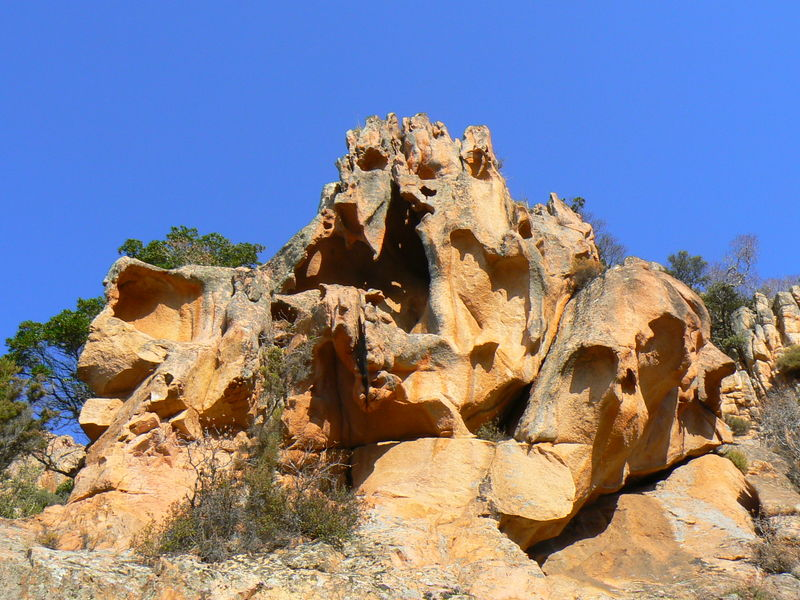 One of the many intriguing rock formations in Les Calanques de Piana