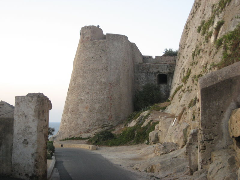 One portion of the massive bastion which protects Calvi's citadel on all four sides