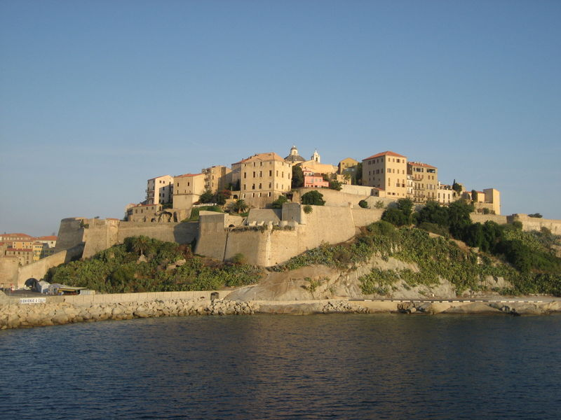 The 15th-Century Genovese Citadel in Calvi, as seen from the ferry as we were leaving Corsica to return to Nice