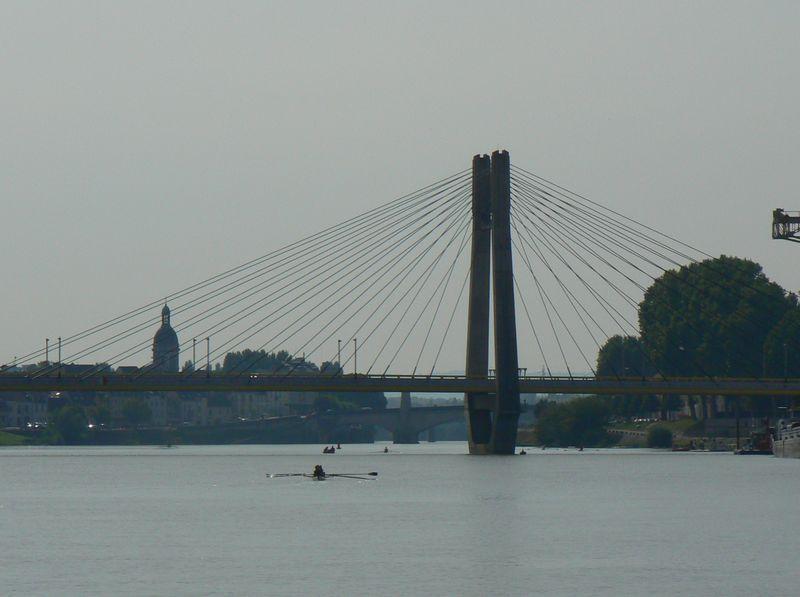 The Pont de Bourgogne on the river Saône in Burgundy