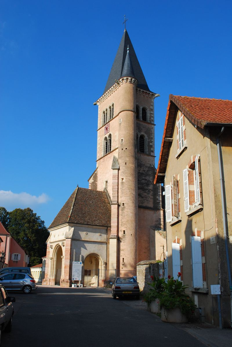 Notre Dame Church in Cuisery, France [Photo by Michael DeMoney]