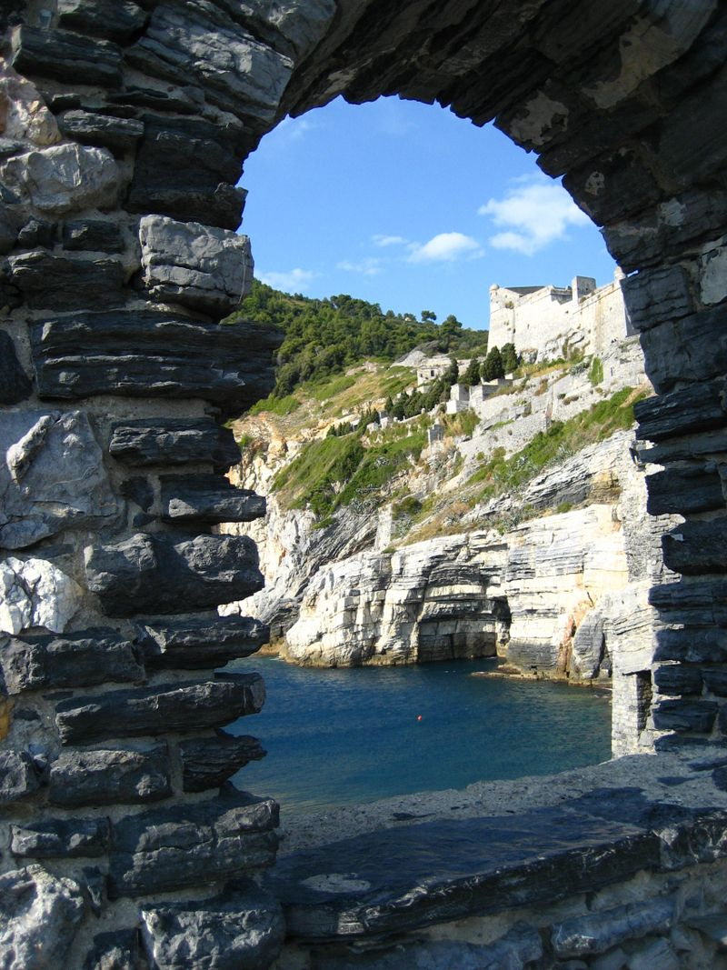 Byron's Grotto where Lord Byron swam to Lerici to visit his friend Shelley