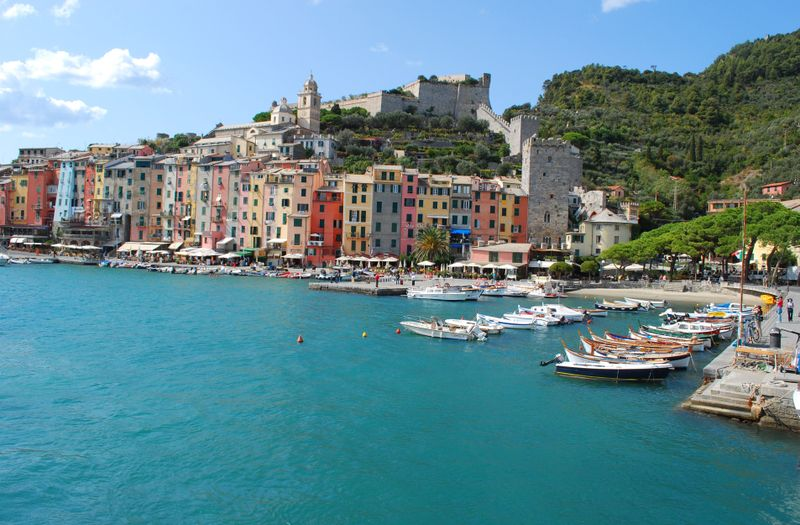 Arriving by boat into the Harbor of Portovenere [Photo by Michael DeMoney]