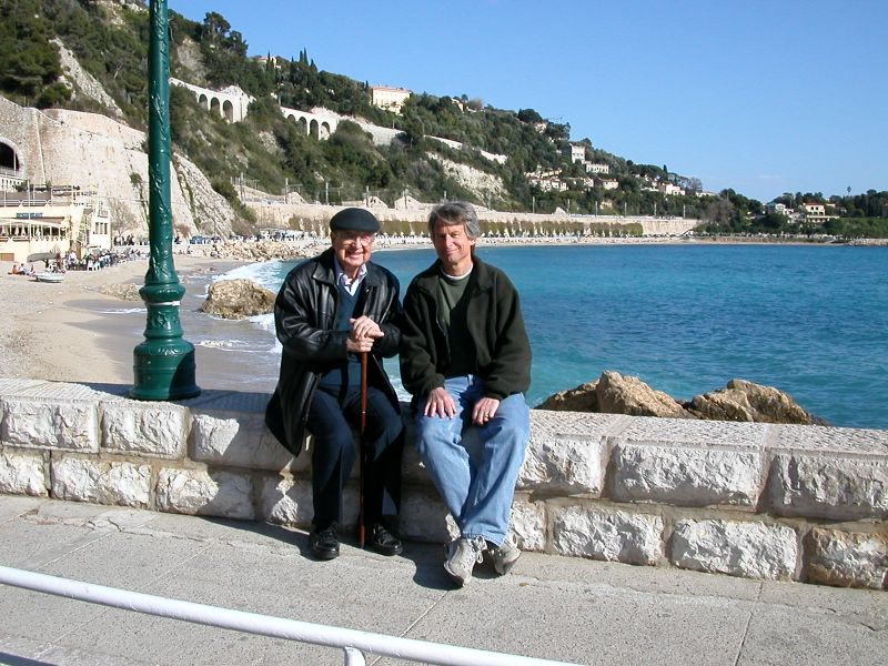 David & Bob DeMoney in Villefranche-sur-Mer on the French Riviera