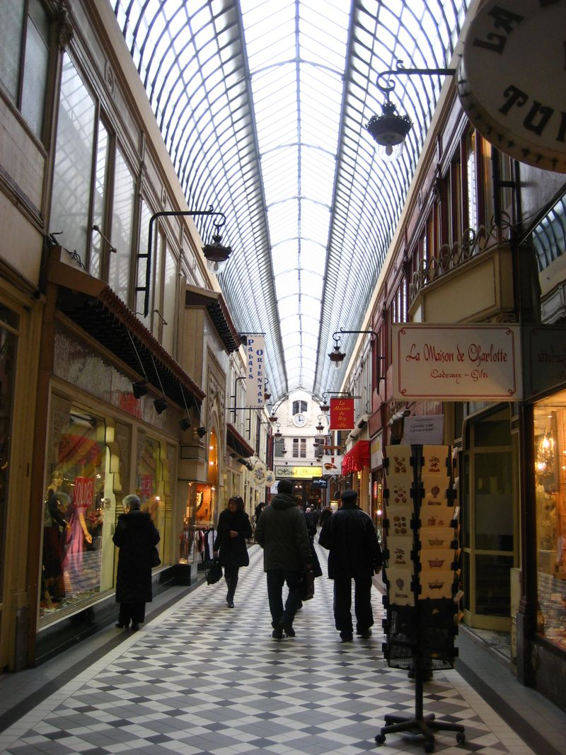 The interior of the Passage Jouffroy in Paris
