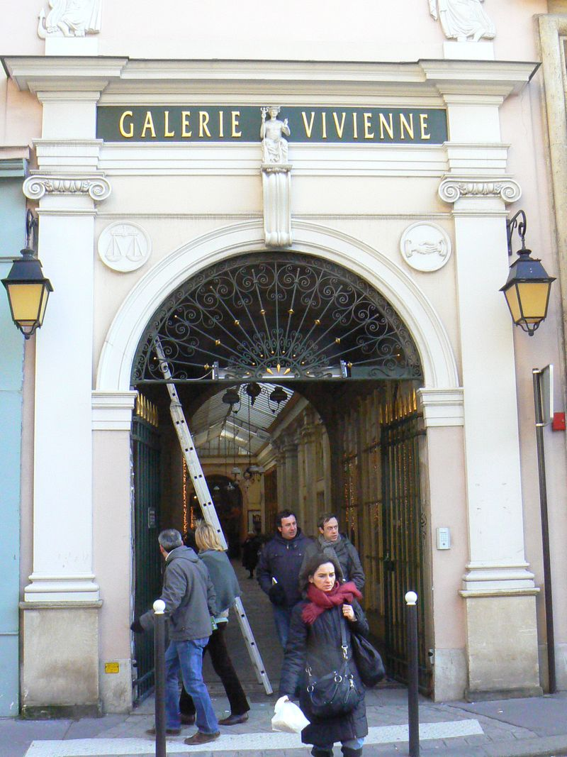 The entrance to Galerie Vivienne in Paris [Photo by David DeMoney]