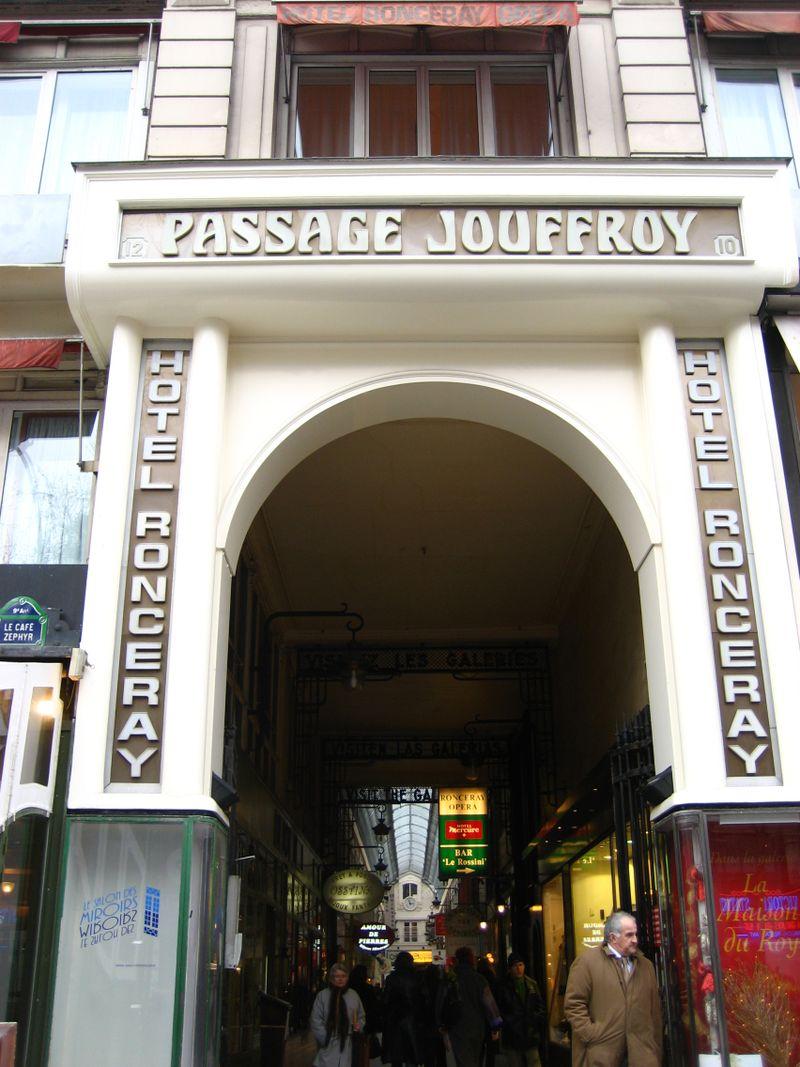 Entrance to Passage Jouffroy in Paris