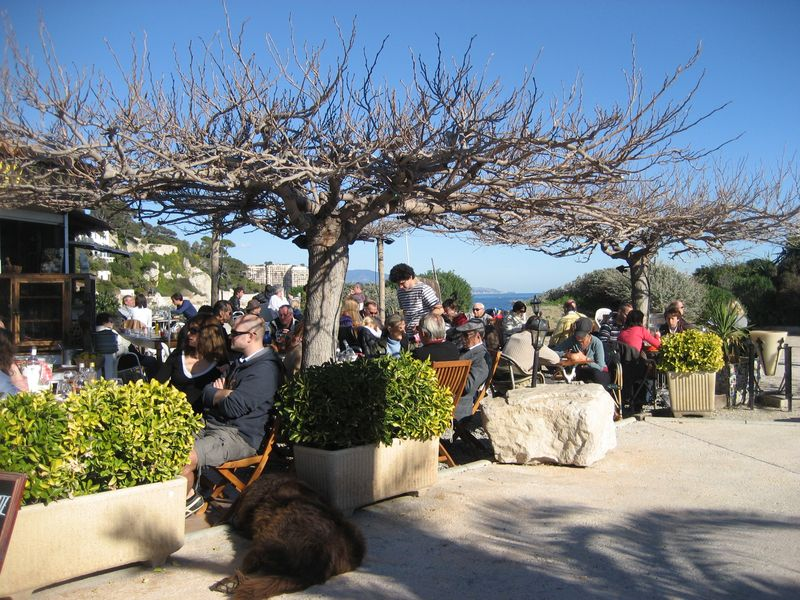 Lunch under the sun at Le Cabanon on Cap d'Ail