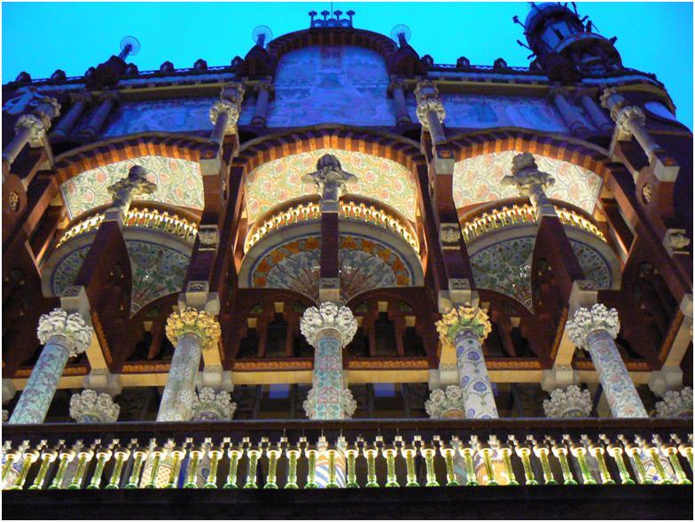 Palau de la Música Catalana by Lluís Domènech I Montaner built in 1908