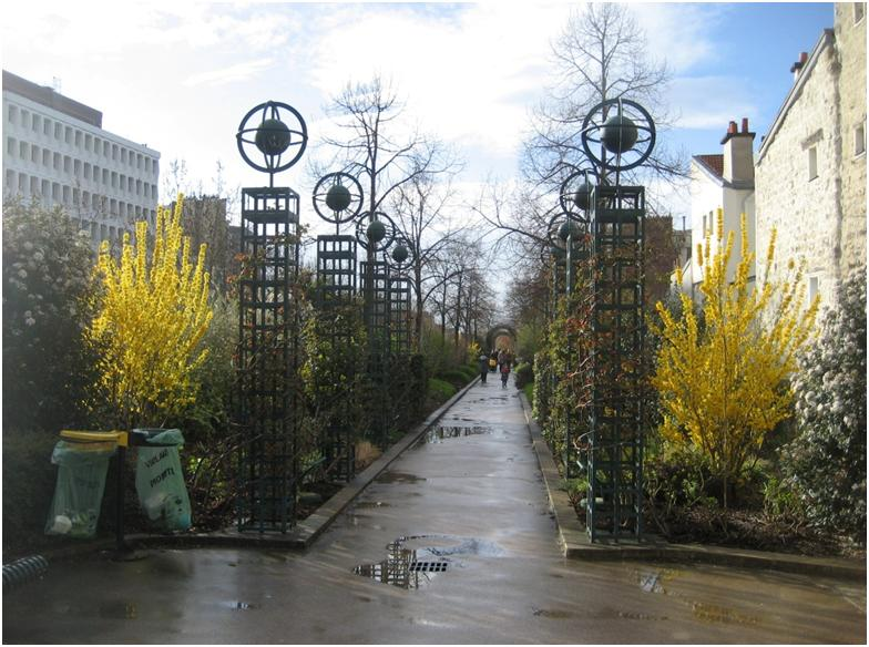 Promenade Plantée in the 12th arrondissement of Paris in April