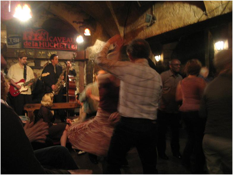 The Drew Davies Swing Band at Caveau de la Huchette in Paris
