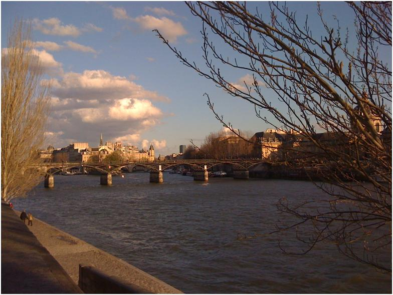 The River Seine in Paris in April