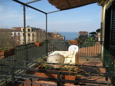 View from the terrace of Room 41 in Villa di Sorrento