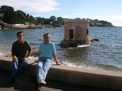 Mike & Dave on the Cap near Juan-les-Pins