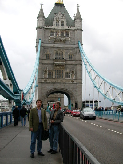 Mike & Dave on Tower Bridge in London