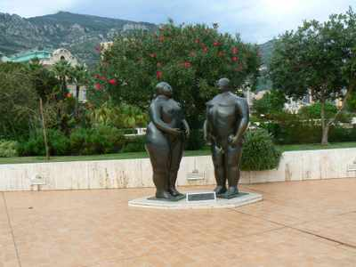 Giant Adam & Eve behind the Casino in Monte-Carlo