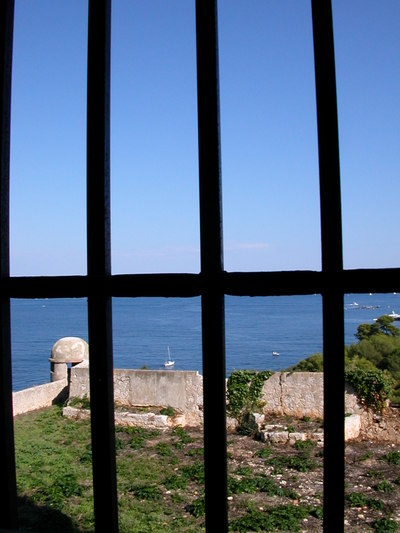 From a prison cell on Île Sainte-Marguerite