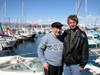 Bob and Dave DeMoney at Port Vauban in Antibes