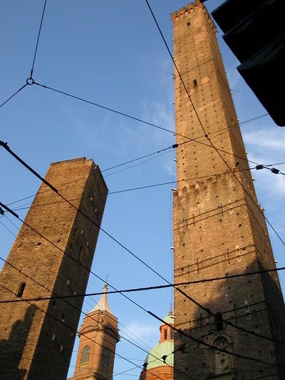 Le Due Torri - The Two Towers in the Center of Bologna