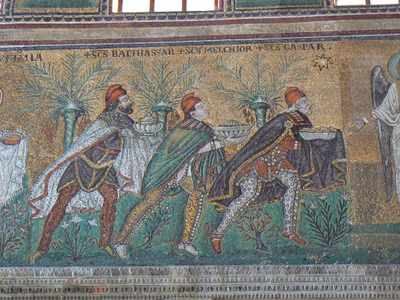 A Mosaic of the Three Magi in S. Apollinare Nuovo in Ravenna
