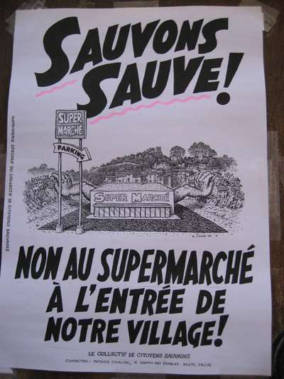 Robert Crumb's Poster to Save the Village of Sauve from Urban Commercialization