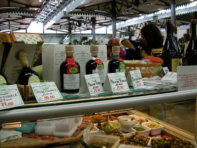 Balsamic Vinegar at a Market in Modena