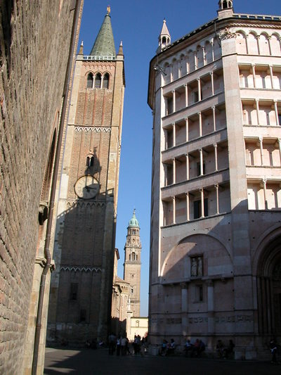 The Piazza del Duomo in the City of Parma