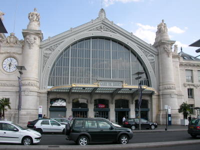 The Main Train Station in the Center of Tours