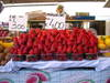 Fresh strawberries at the morning market in Venice