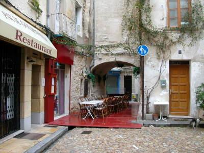 Rainy Street in Avignon