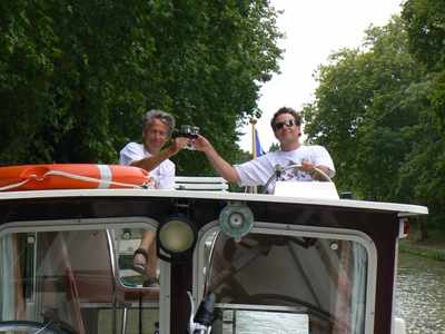Dave & Mike DeMoney cruising down the Canal du Midi