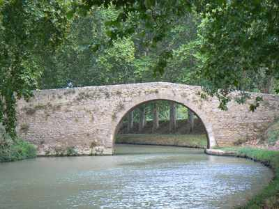 A Humpback Bridge on the Canal du Midi