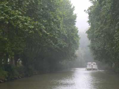 The Canal du Midi in the Rain