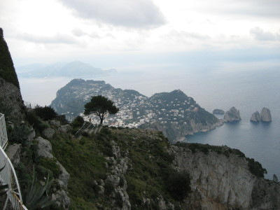 View from atop Monte Solaro in Anacapri
