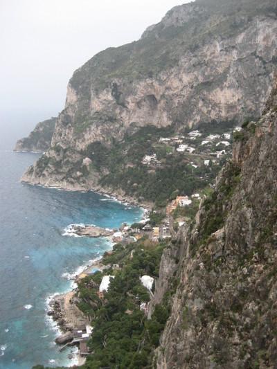 The rocky Isola di Capri