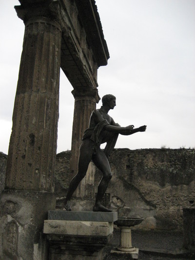 A Replica of the Statue of Apollo in Pompeii