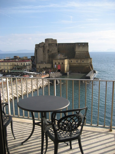 Castel Dell'Ovo (The Egg Castle) from the Hotel Royal Continental in Naples