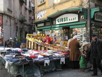 A Street Market in Naples