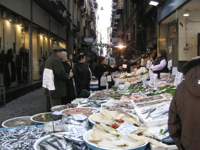 A Fish Market in Naples