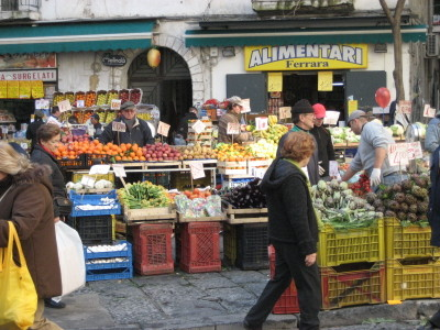 A Produce Market in Naples
