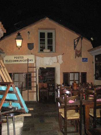 Inside Restaurant Le 20123 in Ajaccio, Corsica
