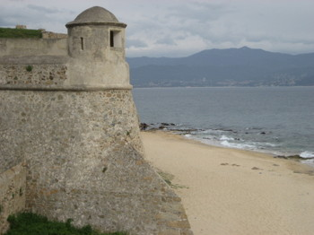 The Watchtower of the Citadel in Ajaccio, Corsica