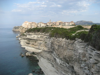 The Old Town of Bonifacio in Southern Corsica
