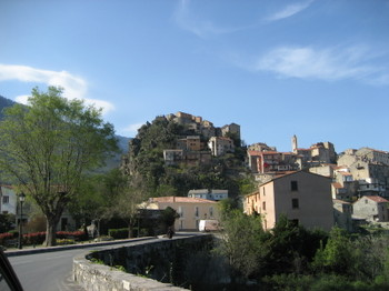 The Village of Corte is in the Geographic Heart of Corsica