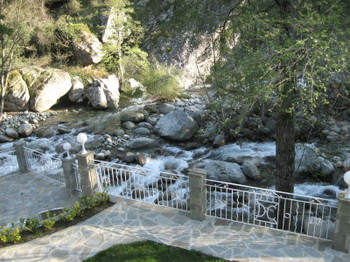 From our room with a view at Hotel Dominique Colonna along the Torrent de La Restonica