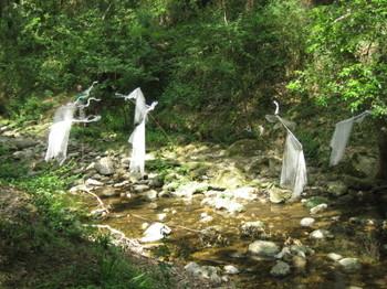 Art on the river Brague