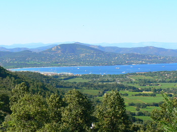 View from the Village of Gassin in the Var